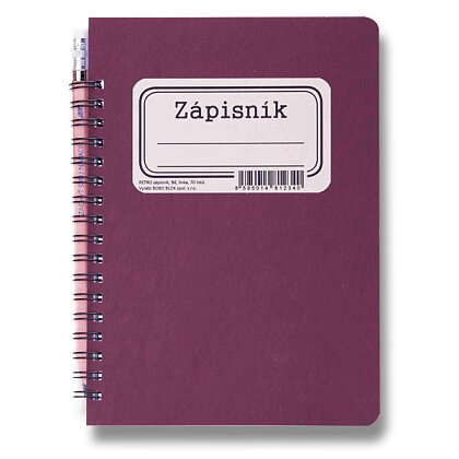 Product image Bobo Retro - ring notebook - B6, 70 s., Lined, bordeaux