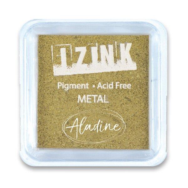 Razítkovací polštářek Aladine Izink metalický, zlatý
