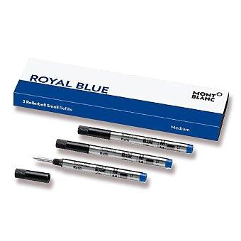 Obrázek produktu Náplň Montblanc do malých rollerů M - 3 ks, modrá