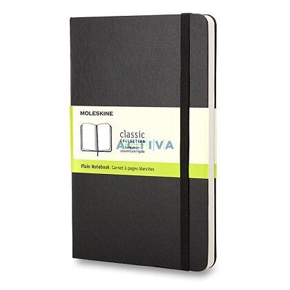 Obrázek produktu Moleskine - zápisník v tvrdých deskách - 9 x 14 cm, čistý, černý