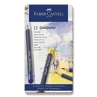 Obrázek produktu Pastelky Faber-Castell Goldfaber - plechová krabička, 12 barev