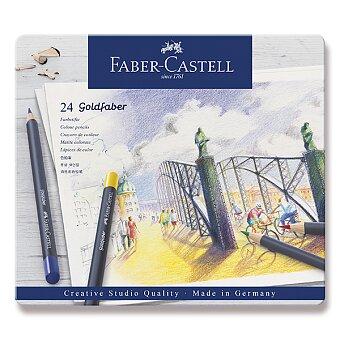 Obrázek produktu Pastelky Faber-Castell Goldfaber - plechová krabička, 24 barev