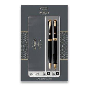 Obrázek produktu Parker Sonnet Black GT - sada plnicí pero a kuličková tužka