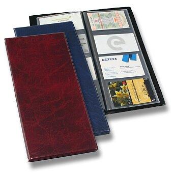 Obrázek produktu Vizitkář v deskách s imitací kůže PP Karton Xepter - na 80 vizitek, výběr barev