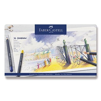 Obrázek produktu Pastelky Faber-Castell Goldfaber 114736 - plechová krabička, 36 barev