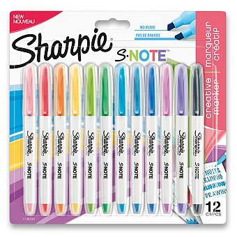 Obrázek produktu Popisovač Sharpie S-Note - 12 barev