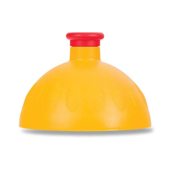 Kompletní víčko Zdravá lahev tmavě žluté/ červená zátka