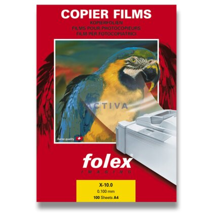 Obrázek produktu Folex X 10 - čirá fólie - 100 listů, pro ruční popis