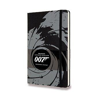 Obrázek produktu Zápisník Moleskine James Bond - tvrdé desky - L, linkovaný, černý