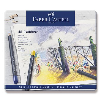 Obrázek produktu Pastelky Faber-Castell Goldfaber - plechová krabička, 48 barev