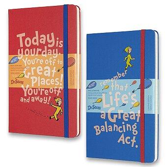 Obrázek produktu 18měsíční diář Moleskine 2019-20 Dr. Seuss - 13 x 21 cm, týdenní, výběr barev