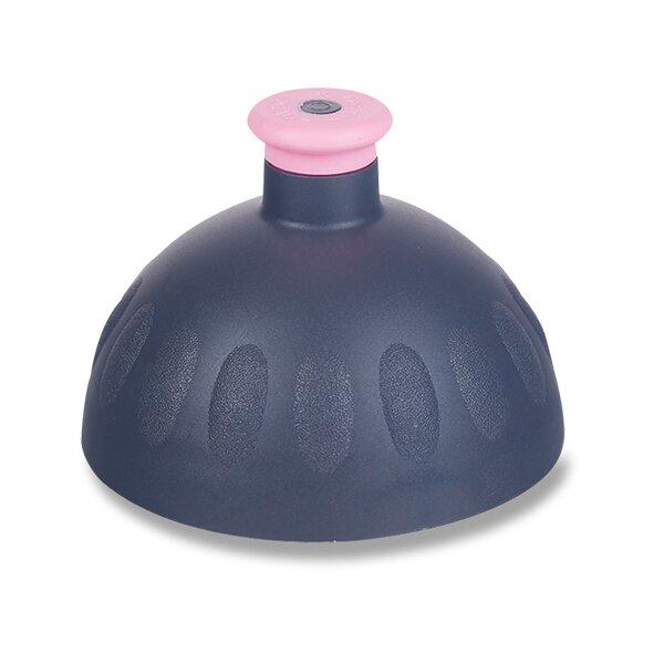 Kompletní víčko Zdravá lahev antracit/ růžová zátka
