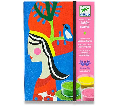 Obrázek produktu Malování barevným pískem Djeco - Královny
