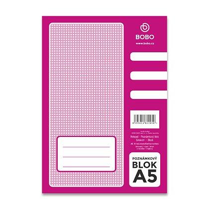 Obrázek produktu Bobo blok - lepený blok - A5, 50 l., linkovaný