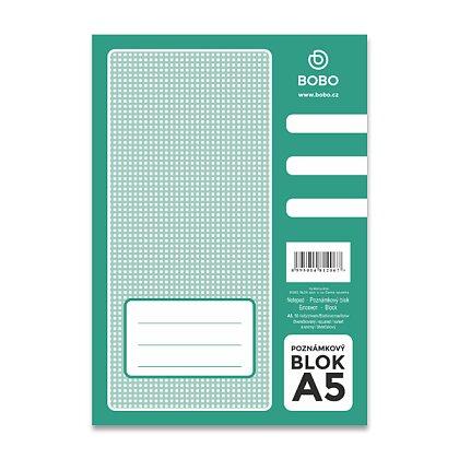 Obrázek produktu Bobo blok - lepený blok - A5, 50 l., čtverečkovaný