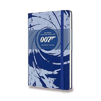 Obrázek produktu Zápisník Moleskine James Bond - tvrdé desky - L, linkovaný, modrý