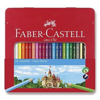 Obrázek produktu Pastelky Faber-Castell - 24 barev v plechové ktabičce