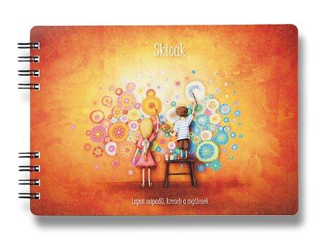 Obrázek produktu Skicák Tvořivost - B5, 80 listů, kroužkový vazba