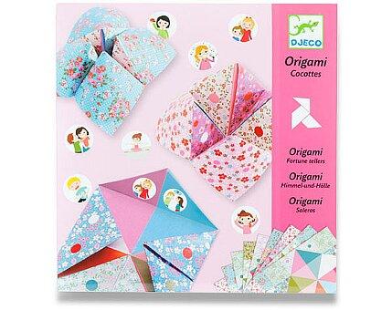 Obrázek produktu Origami skládačka Djeco - Nebe, peklo, ráj - růžová sada
