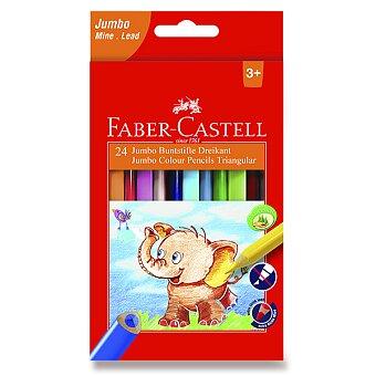 Obrázek produktu Pastelky Faber-Castell  Extra Jumbo - 24 barev + ořezávátko
