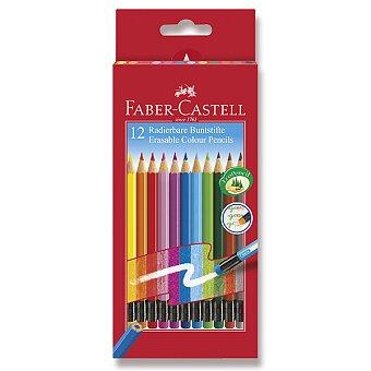 Obrázek produktu Pastelky Faber-Castell s barevnou pryží - 12 barev