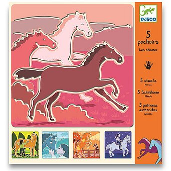 Obrázek produktu Šablony Djeco - Koně
