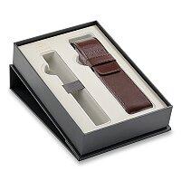 Dárková kazeta Parker s hnědým koženkovým pouzdrem