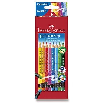 Obrázek produktu Pastelky Faber-Castell Grip 2001 s barevnou pryží - 10 barev