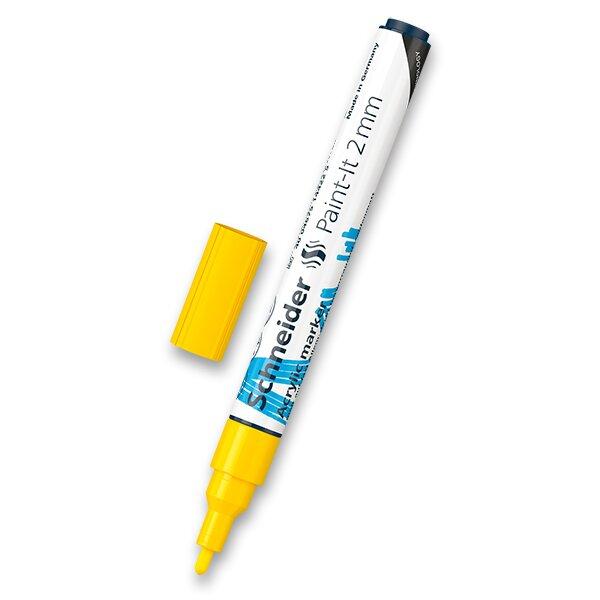 Akrylový popisovač Schneider Paint-It 310 žlutá