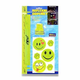 Obrázek produktu Set reflexních doplňků - žluté, 8 ks