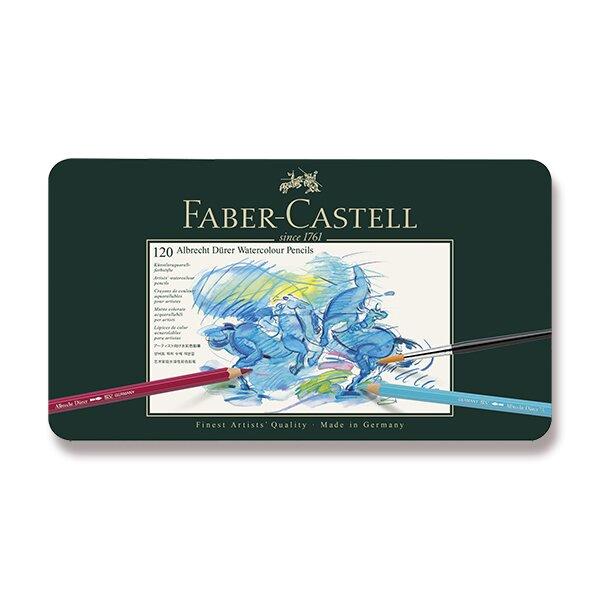 Akvarelové pastelky Faber-Castell Albrecht Dürer plechová krabička, 120 barev