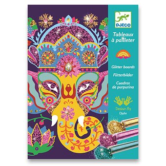 Obrázek produktu Malování barevným pískem Djeco - Třpytivá zvířata