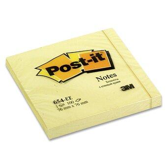 Obrázek produktu Samolepicí bloček 3M Post-it 654 - 76×76 mm, 100 l., žlutý