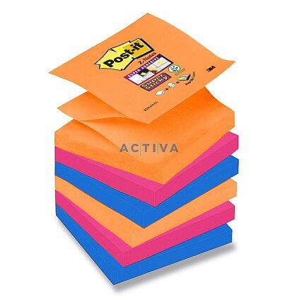 Obrázok produktu 3M Post-it SuperSticky - samolepiace bločky - 76 x 76 mm, 6 x 90 l., typ Z, Bora Bora