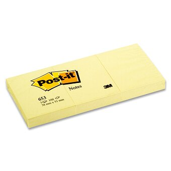 Obrázek produktu Samolepicí bloček 3M Post-it 653 - 51 × 38 mm, 3×100 l.