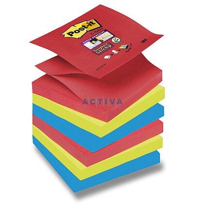 Obrázok produktu 3M Post-it SuperSticky - samolepiace bločky - 76 x 76 mm, 6 x 90 l. typ Z, Bangkok