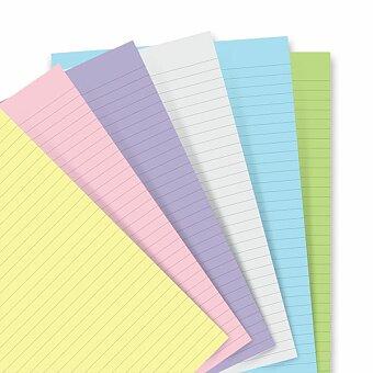 Obrázek produktu Poznámkový papír, linkovaný, 6 barev - náplň diářů A5 Filofax