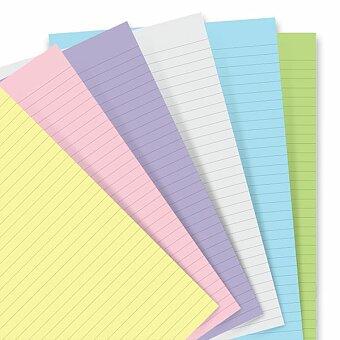 Obrázek produktu Poznámkový papír, linkovaný, 6 barev - náplň zápisníků A5 Filofax Notebook
