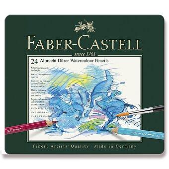 Obrázek produktu Akvarelové pastelky Faber-Castell Albrecht Dürer - plechová krabička, 24 barev