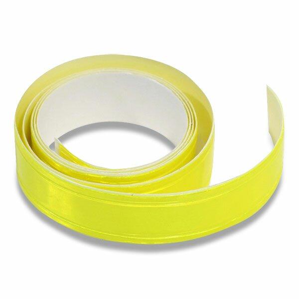 Samolepicí reflexní páska 2 cm x 90 cm žlutá