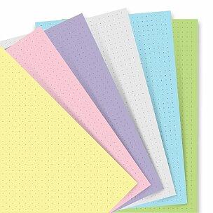 Poznámkový papír, tečkovaný, 6 barev