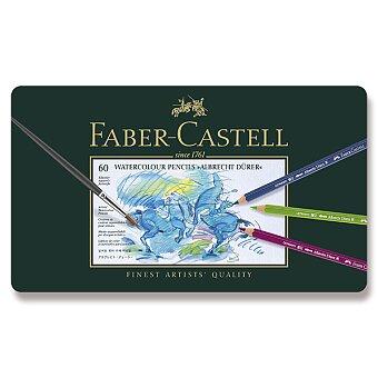 Obrázek produktu Akvarelové pastelky Faber-Castell Albrecht Dürer - plechová krabička, 60 barev