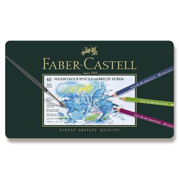 Akvarelové pastelky Faber-Castell Albrecht Dürer plechová krabička, 60 barev