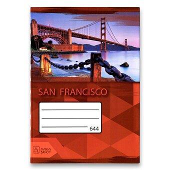 Obrázek produktu Školní sešit Premium 644 - A6, linkovaný, 40 listů