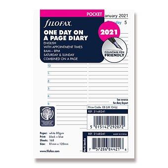 Obrázek produktu Denní kalendář 2021, Aj - náplň kapesních diářů Filofax