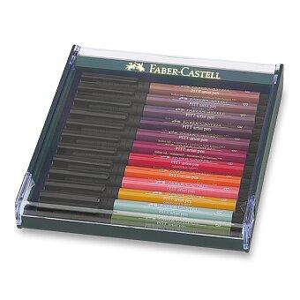 Obrázek produktu Popisovače Faber-Castell Pitt Artist Pen Brush 267422 - 12 ks, podzimní barvy