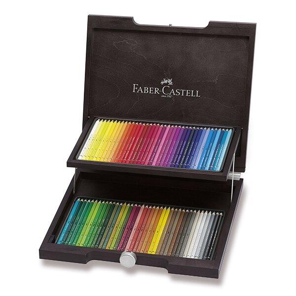 Akvarelové pastelky Faber-Castell Albrecht Dürer dřevěná kazeta, 72 barev