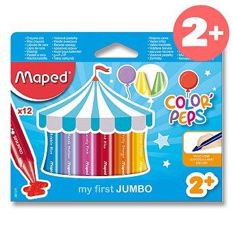 Obrázek produktu Voskovky Maped Color'Peps Wax Jumbo - 12 barev, trojhranné