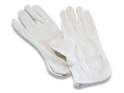 Pracovní rukavice Bustard bavlněné s PVC terčíky