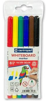 Obrázek produktu Popisovač Centropen 2507 na školní tabulky - 6 barev